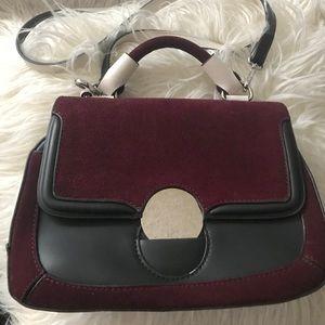 EUC Zara 3-tone top handle shoulder bag